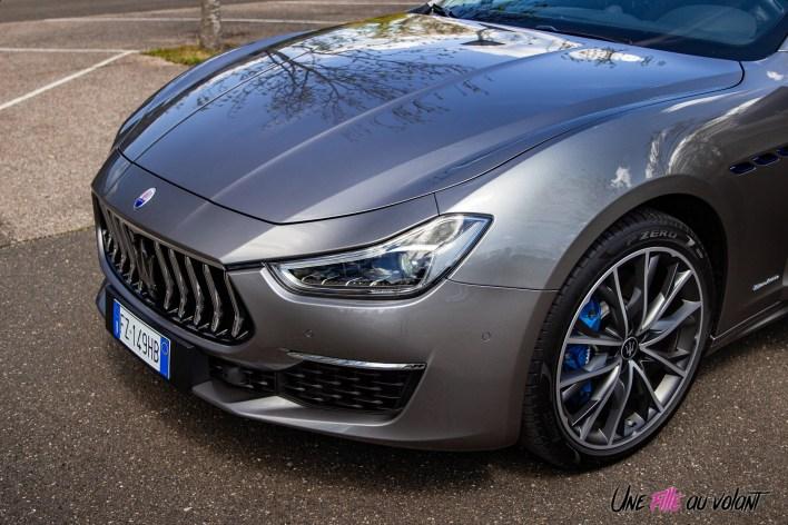 Photo capot Maserati Ghibli hybride 2021