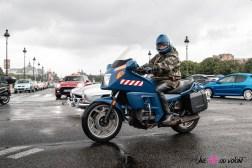 Photo moto traversee de paris estivale 2021