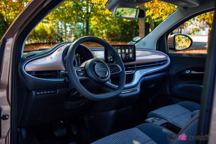 Photo intérieur Fiat 500 électrique 2021