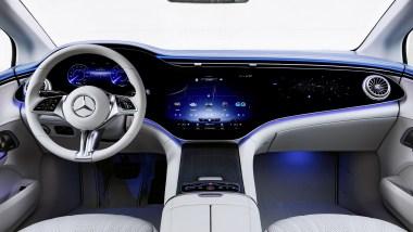 Photo intérieur Mercedes EQE 2021