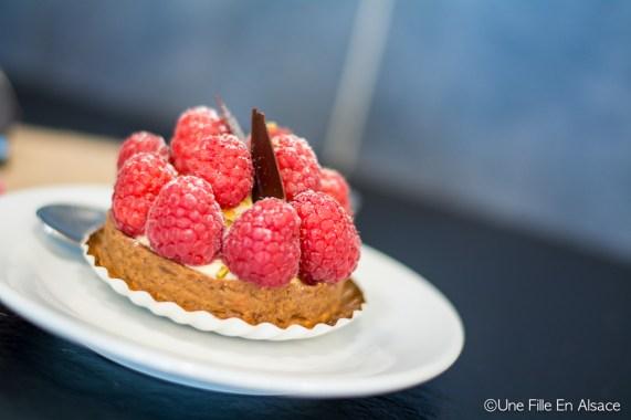 Foodtour l'Alsaciette : Tartelette framboises à la boulangerie Au Petit Schlitteur - Muhlbach sur Munster