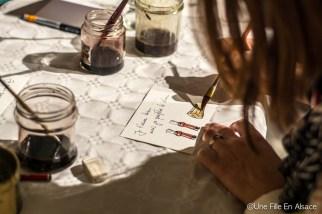 Atelier peinture au vin rouge par Laurent Bessot pour Auto Rétro Vino