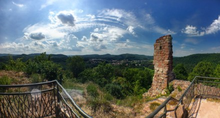 Vue depuis le Château du Ramstein