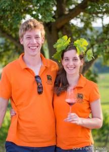 Marine Sohler reine des Vins d'Alsace 2014 et son compagnon