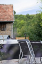 Terrasse des Chambres d'hôtes Les Ecrins à Orbey - Photo Céline Schnell - Une Fille En Alsace