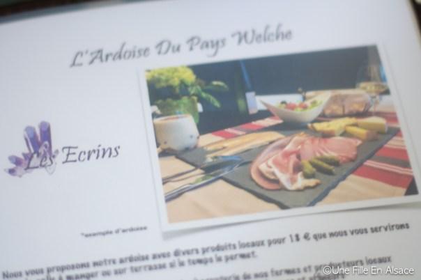 L'ardoise du Pays Welche - Chambres d'hôtes Les Ecrins à Orbey - Photo Céline Schnell - Une Fille En Alsace