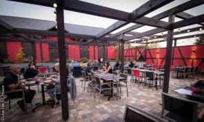 Terrasse du restaurant le Cordon Rouge à Furdenheim - Photo Céline Schnell Une Fille En Alsace