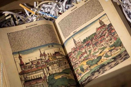 Exposition Bibliothèque Humaniste Selestat - Photo Céline Schnell Une Fille En Alsace