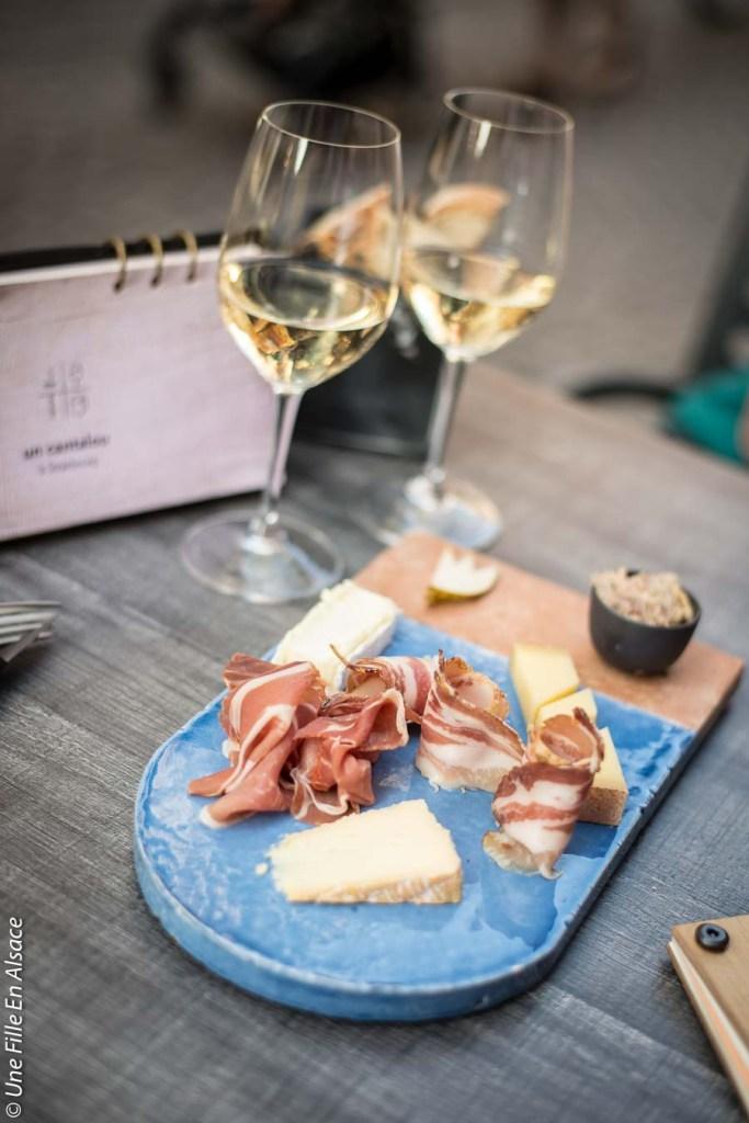 Tuile fromage et charcuterie pour deux Un Cantalou à Strasbourg - Crédit photo ©Celine-Une-Fille-En-Alsace-2019