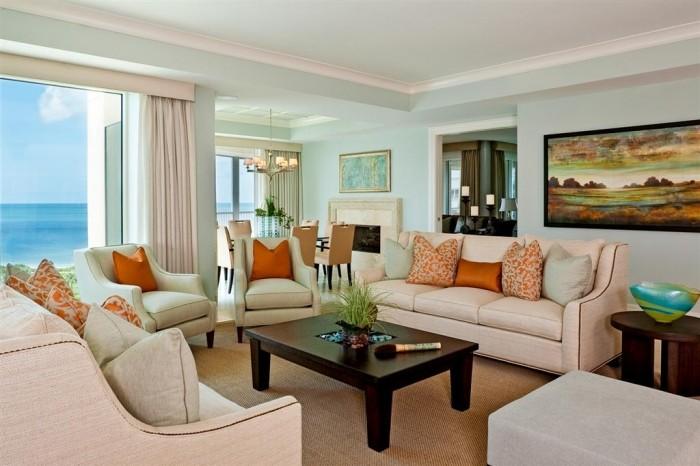 The Zen Of Coastal Living Rooms