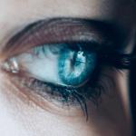 girl with sad blue eyes
