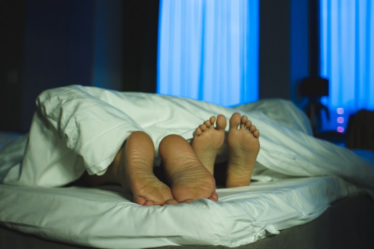 not sleeping alone