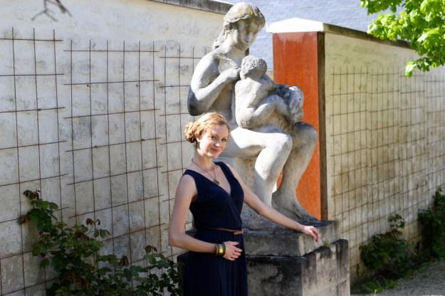 En mode statue