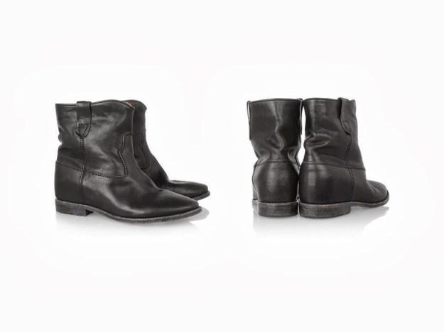 isabel marant cluster boots wedge biker boots black-1