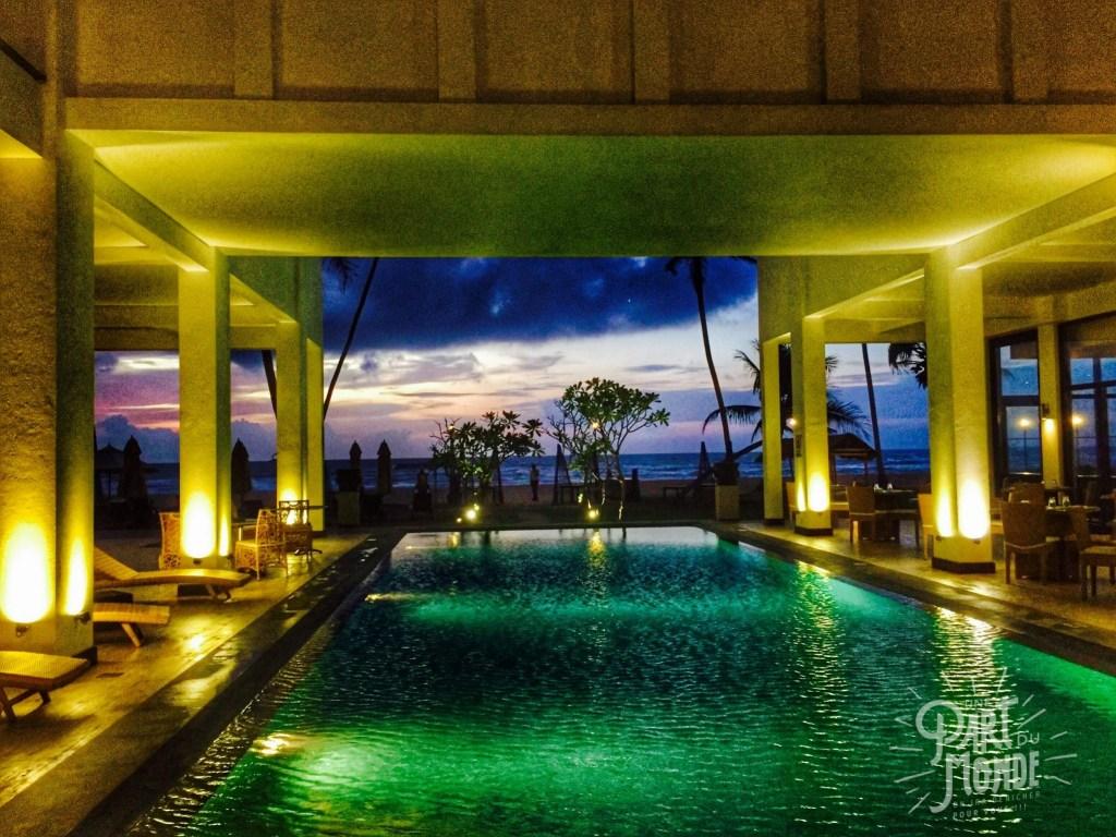 piscine sunset