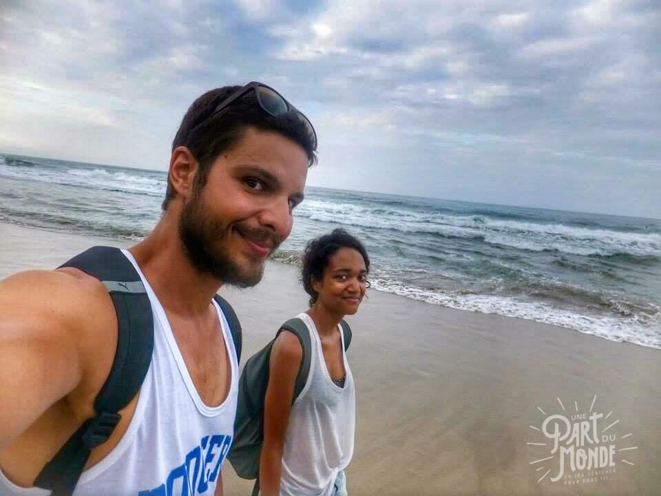 cahuita parc national plage couple