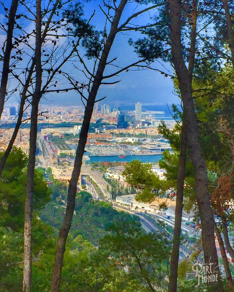 vue barcelone du chateau de montjuic barcelone