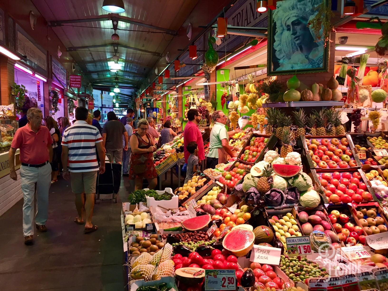 marché triana séville fruit