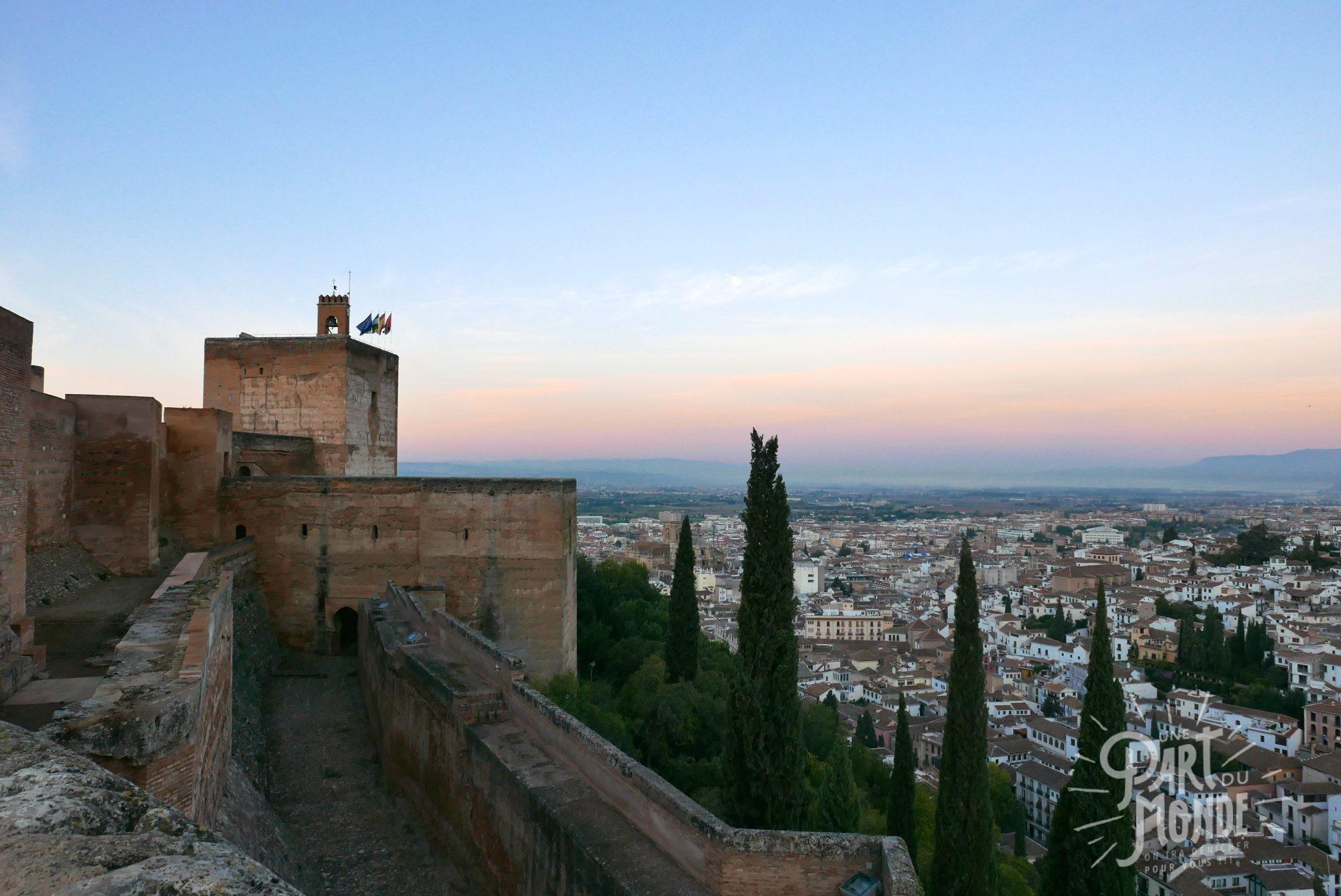 alcazar alhambra grenade sunrise