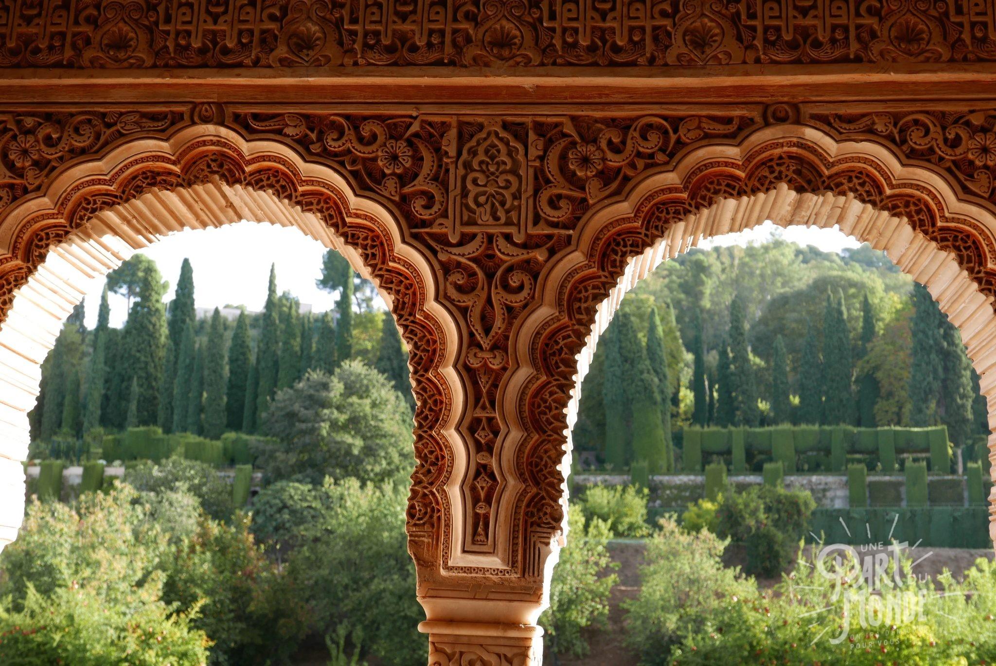 arabesque grenade jardin alhambra
