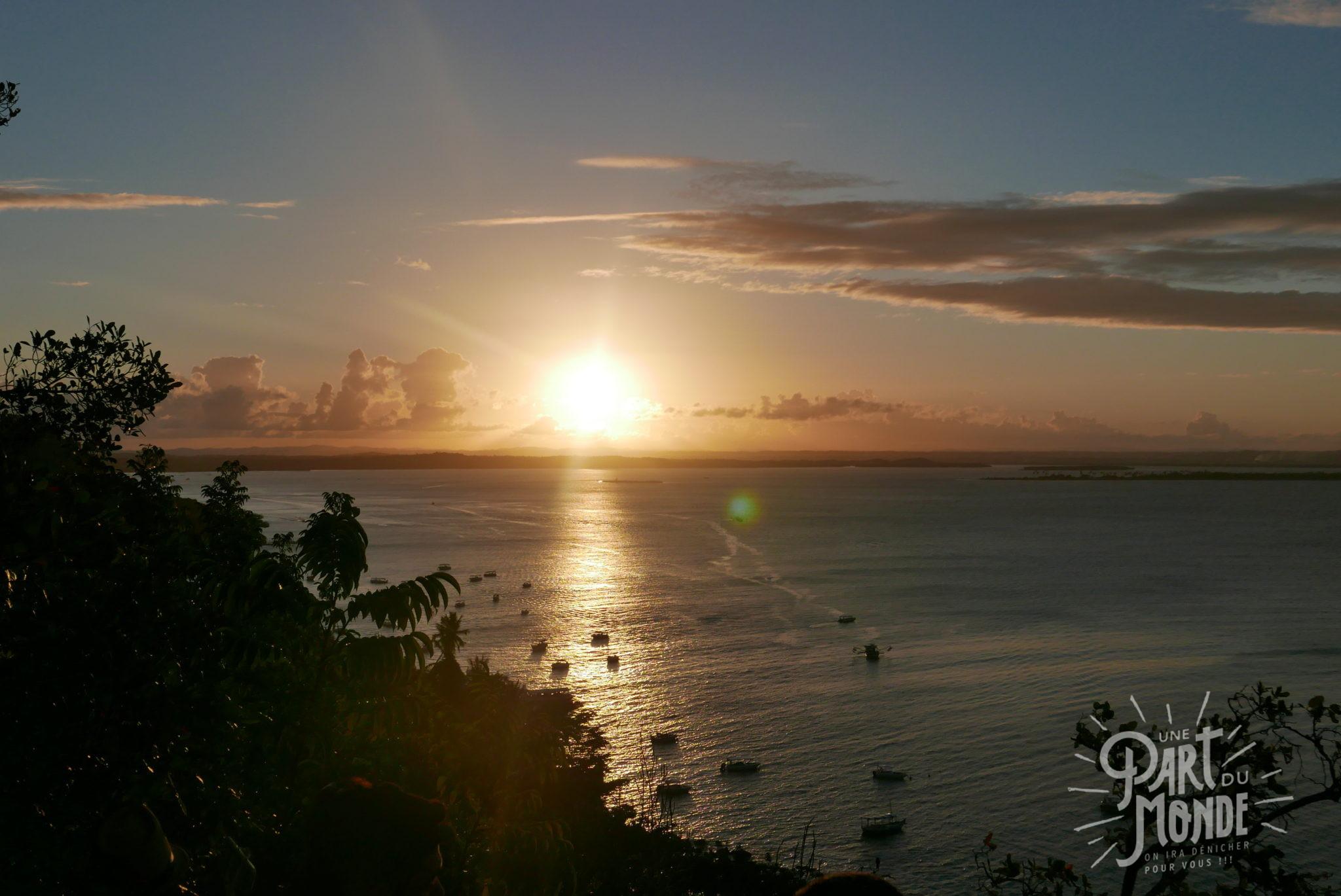 île de tinharé coucher de soleil