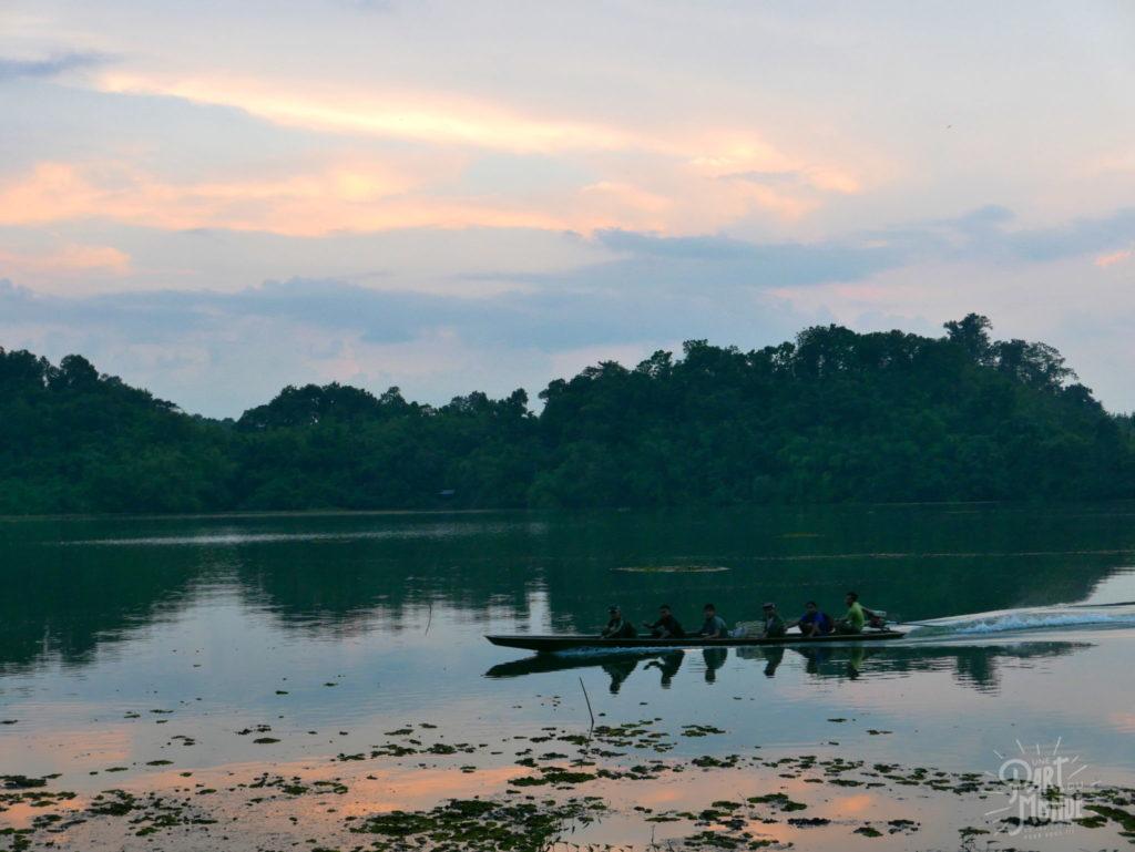 coucher de soleil elephant conservation center