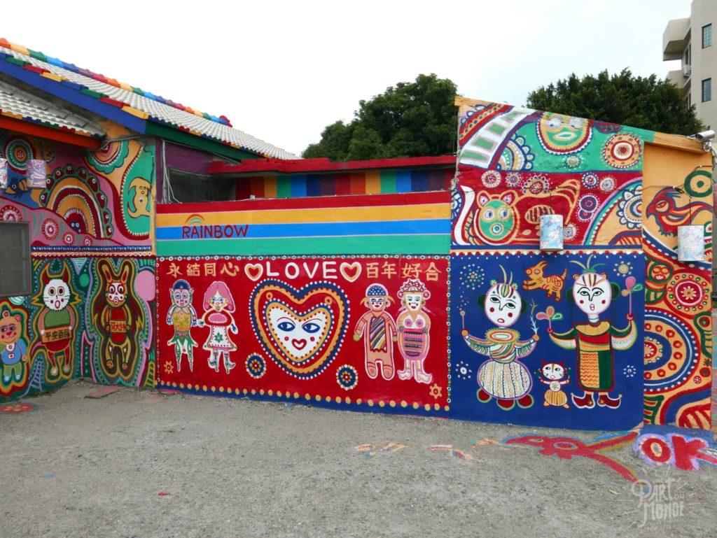 rainbow village taichung love