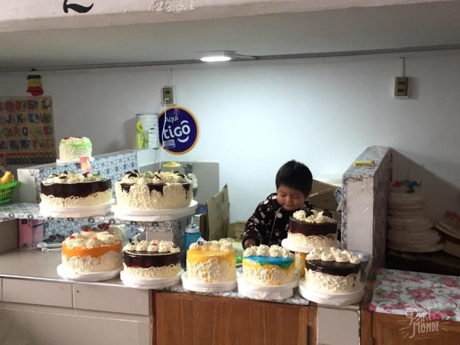 gâteau marché sucre