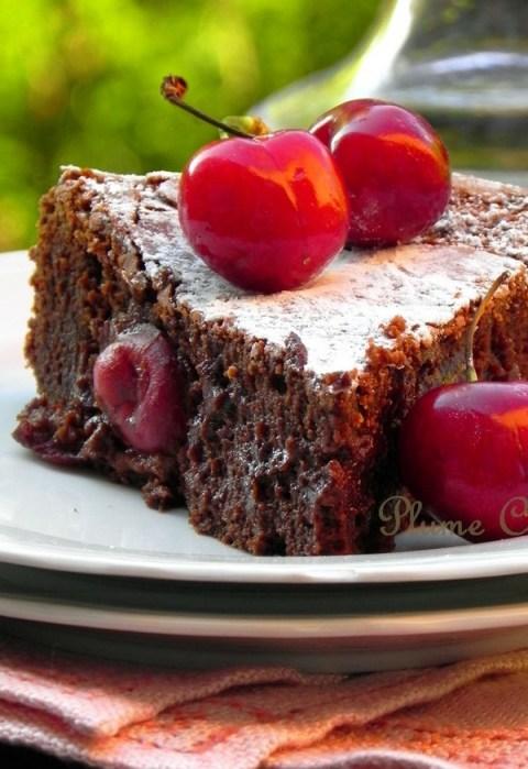 Gâteau-chocolat-rhum-cerises