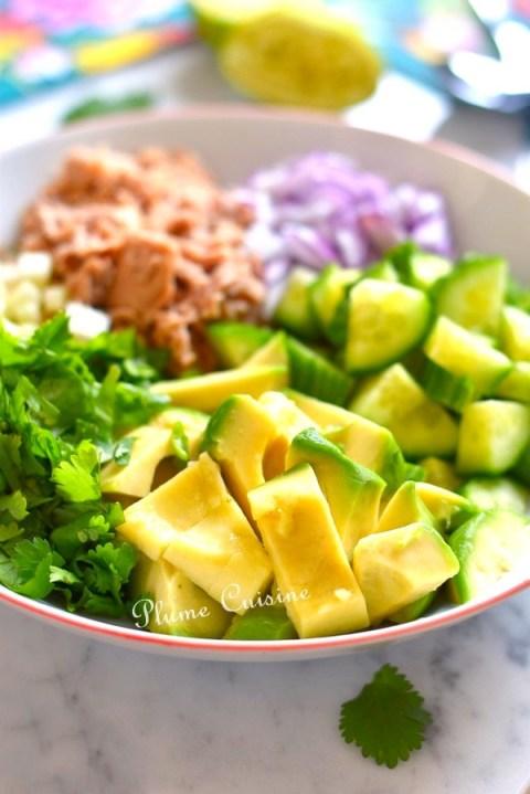 Salade-avocat-et-thon