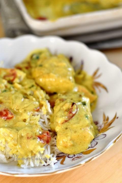 Poisson-crémeux-curry-four