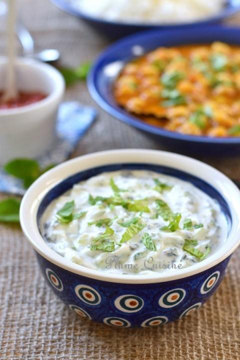 Raïta-menthe-concombre-recette