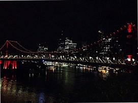 Picture of Brisbane by night, Australia.