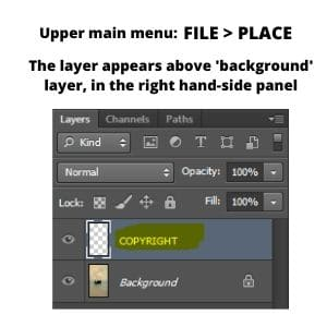 Place-the-watermark-layer-on-the-image-Photoshop