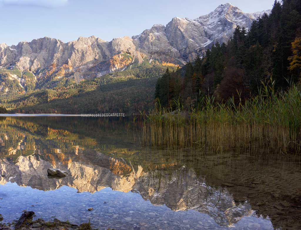 Nature-photography-Eibsee-Bavarian-Alps-reflection-in-water