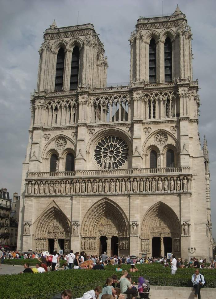 Vooraanzicht Notre Dame Parijs