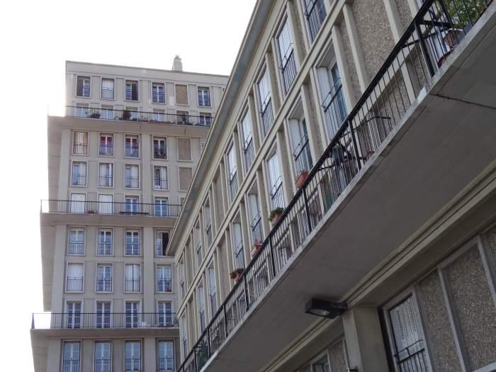 Hoge en lage gebouwen wisselen elkaar af