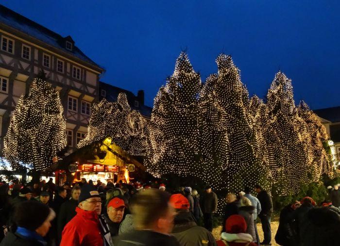 Kerstbomen op Weihnachtsmarkt Goslar