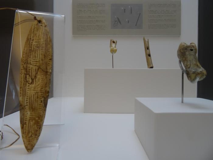 Fluit en andere gebruiksvoorwerpen van prehistorische mens