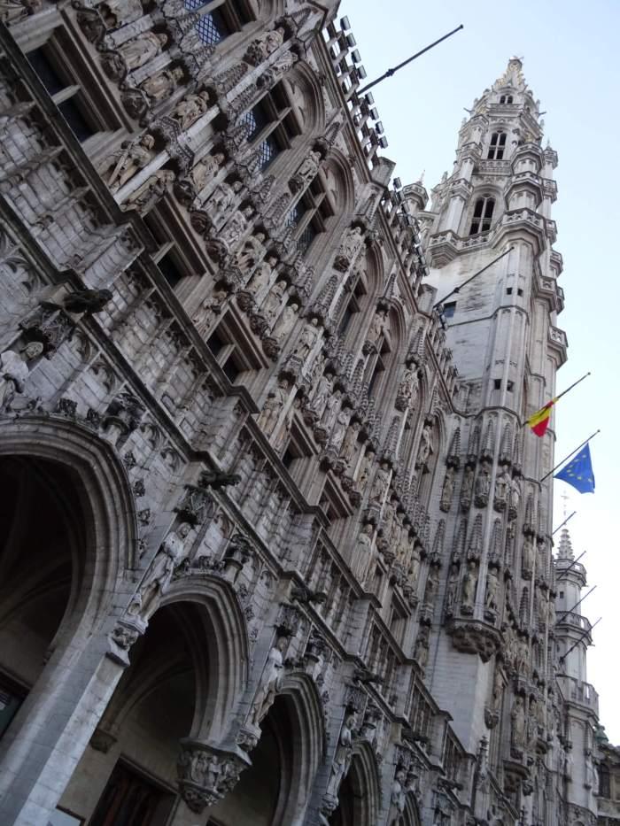 Belfort van het stadhuis op Grote Markt Brussel