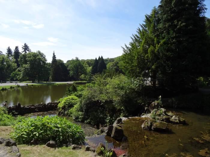 Tuinarchitectuur in bergpark Wilhelmshöhe