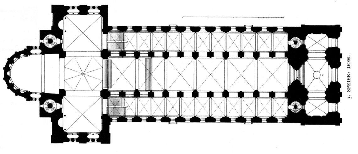 Plattegrond van de kathedraal van Speyer