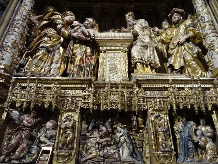 Altaarstuk van Jezus' geboorte in kathedraal van Burgos