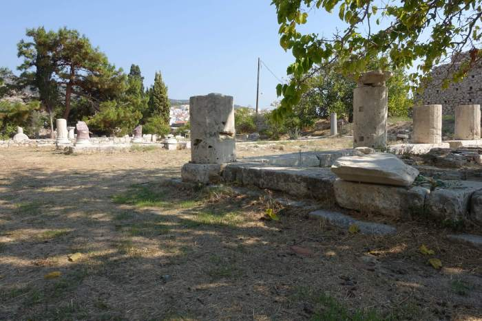 Ruines in Pythagorion op Samos