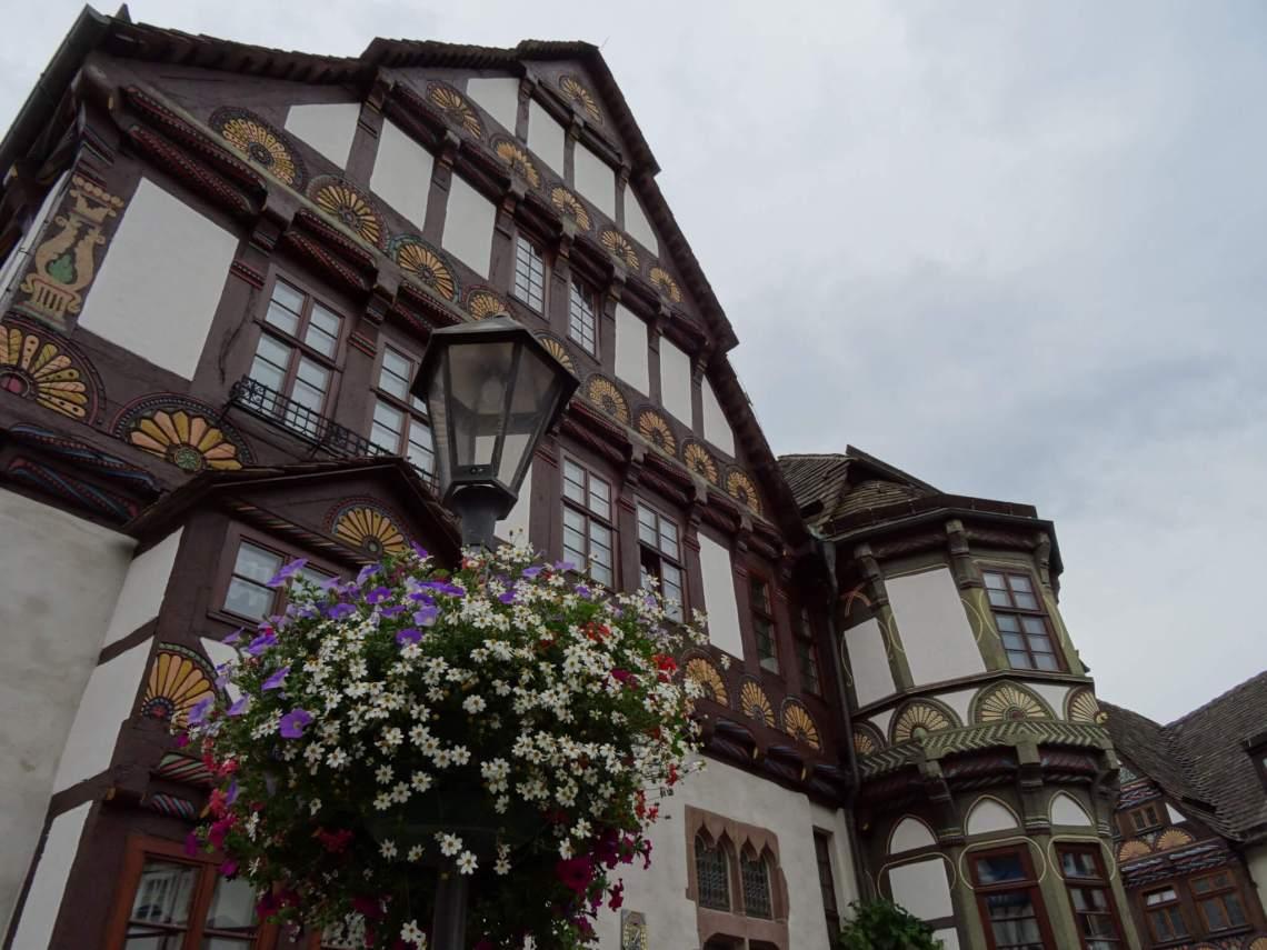 Middeleeuws vakwerkhuis in het centrum van Hoxter