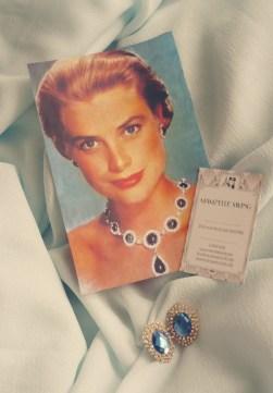 vintage grace kelly boucles oreilles clips vintage mamzelle swing paris glamour