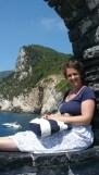 jupe coquillage haut bleu sac rayures bleu marine blanc Monterosso