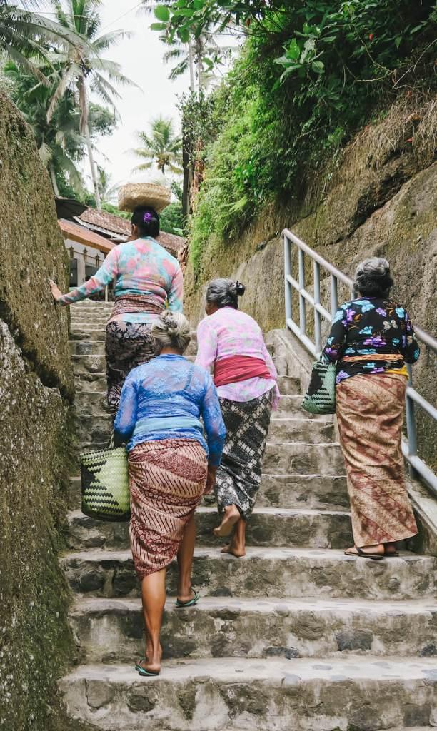 Villageoises dans la région de Gunung Kawi.