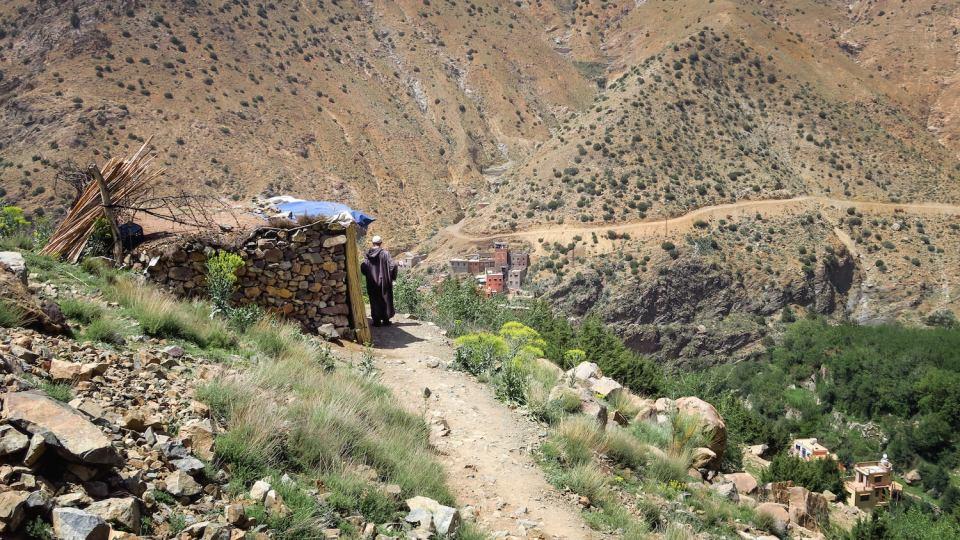 Village berbère dans la vallée de l'Ourika, Maroc