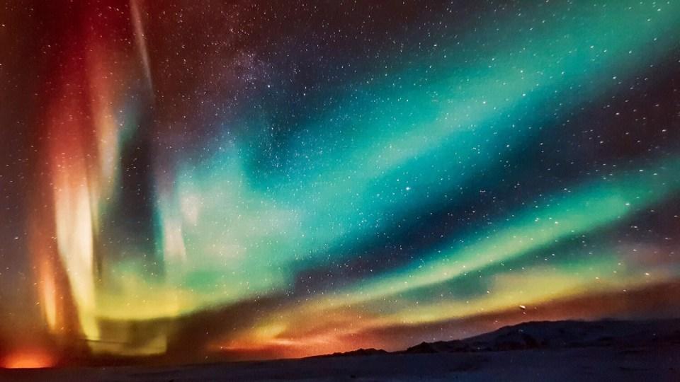 Photo aurore boréale